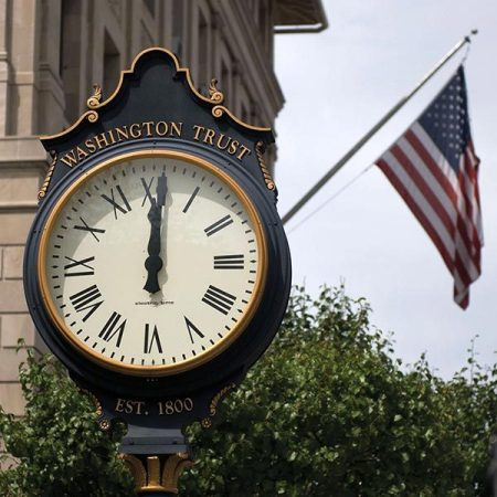 Washington Trust clock